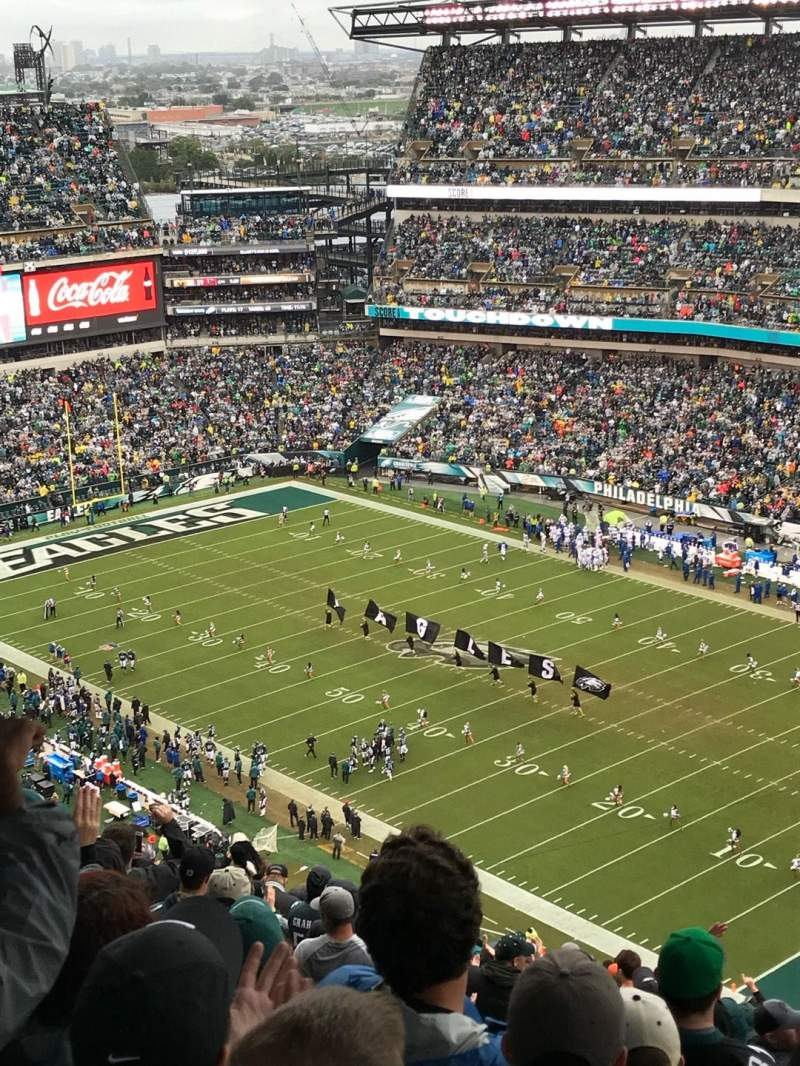 Seating view for Lincoln financial Field Section 207 Row 30 Seat 16