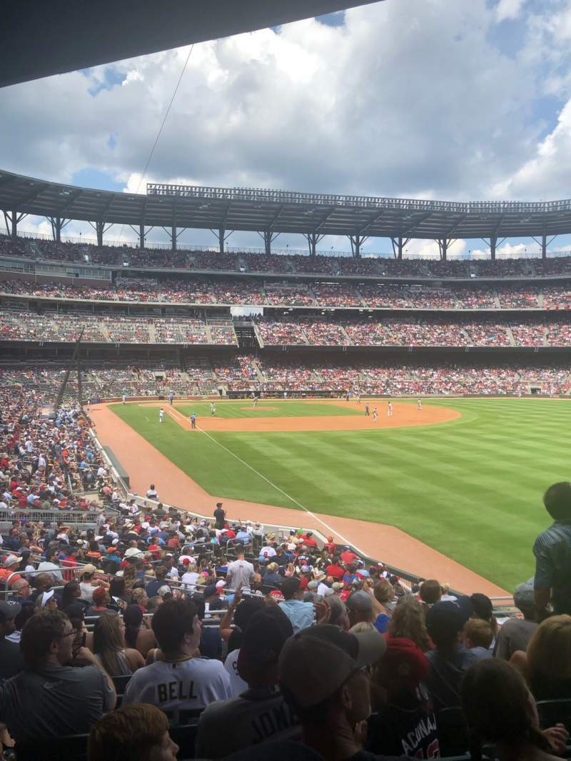 Seating view for SunTrust Park Section 107 Row 8 Seat 19