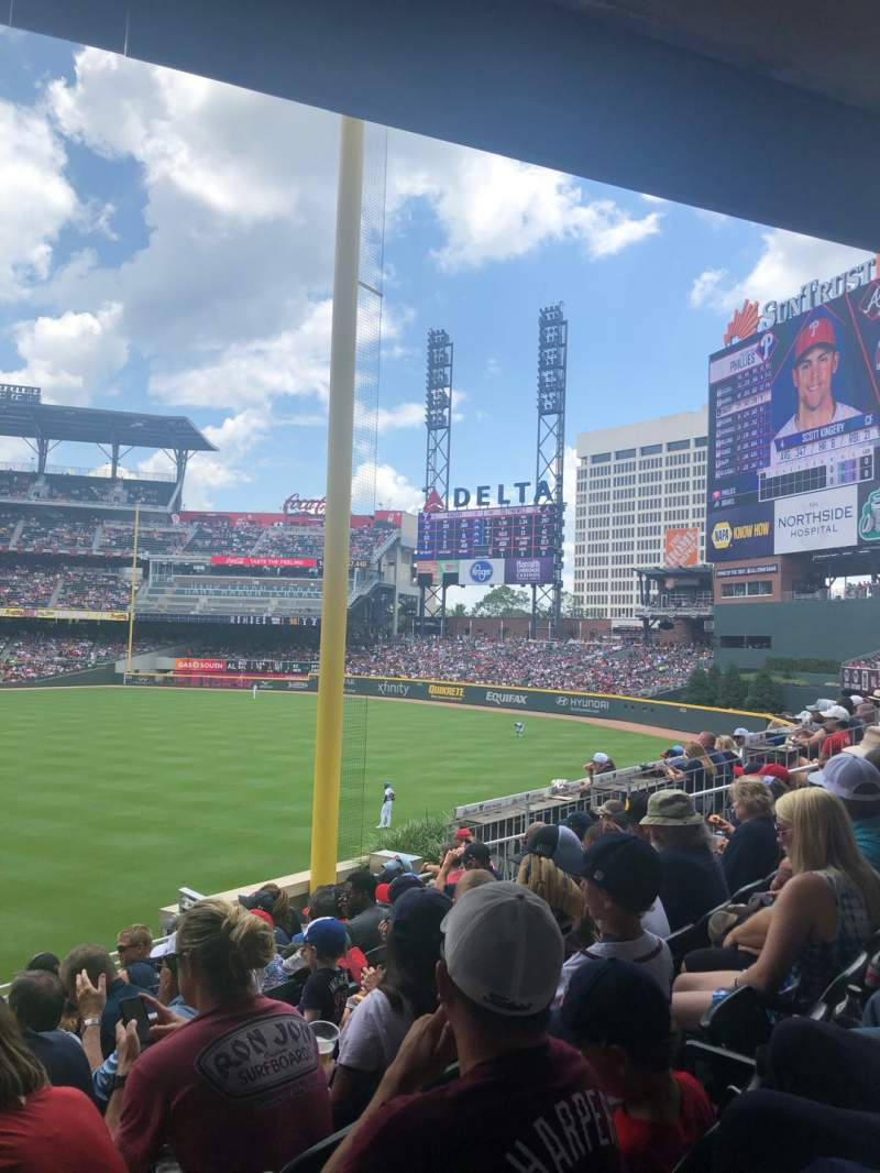 Seating view for SunTrust Park Section 107 Row 8 Seat 10