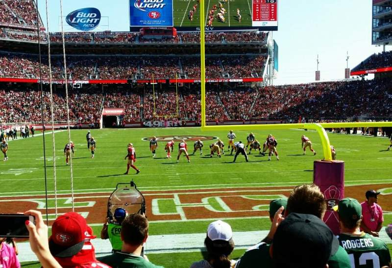 Seating view for Levi's Stadium Section 103 Row 3 Seat 22