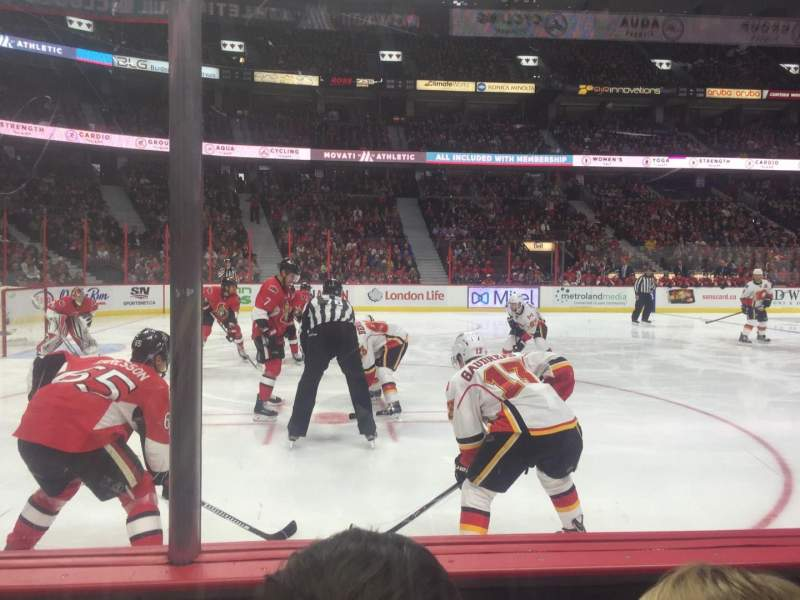 Seating view for Canadian Tire Centre Section 118 Row B Seat 8