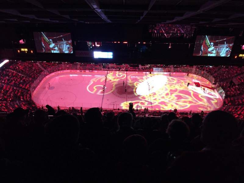 Seating view for Scotiabank Saddledome Section PL5 Row 19 Seat 5