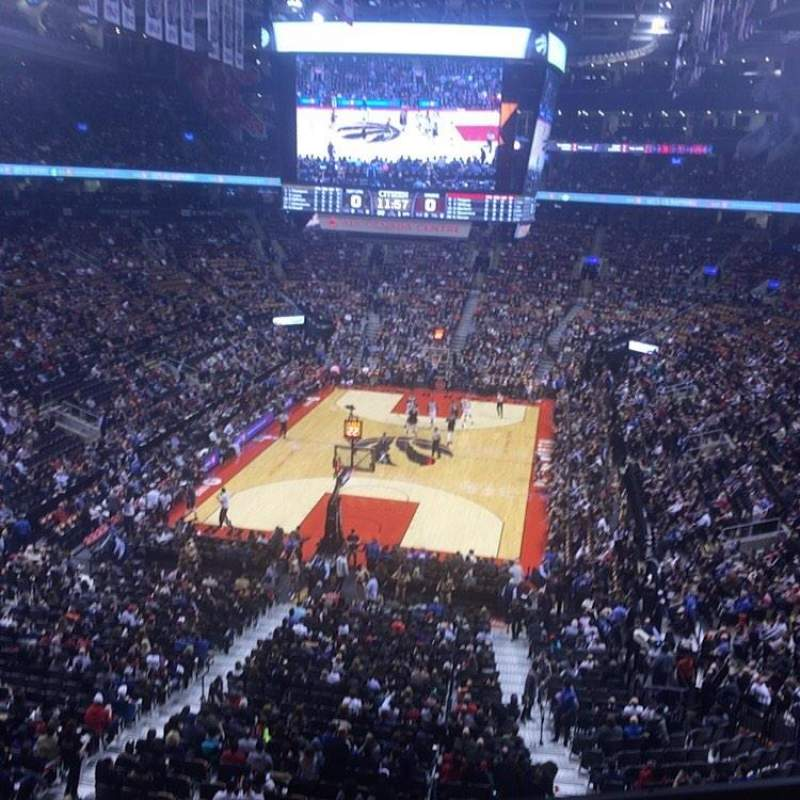 Seating view for Scotiabank Arena Section 314 Row 1 Seat 15