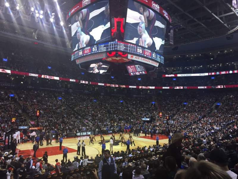Seating view for Air Canada Centre Section 110 Row 16