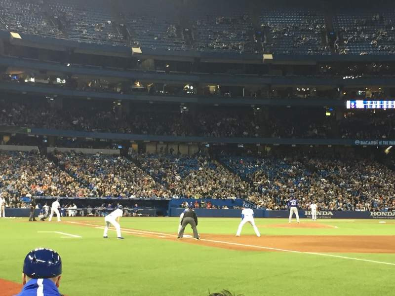 Seating view for Rogers Centre Section 113AR Row 2 Seat 8