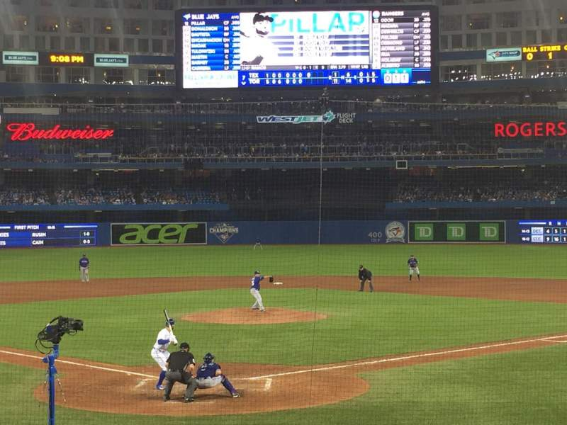 Seating view for Rogers Centre Section 121R Row 17 Seat 5