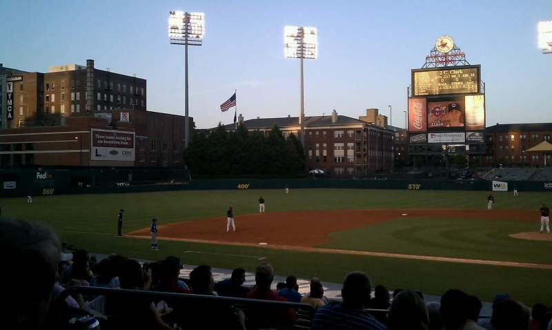Seating view for Autozone Park