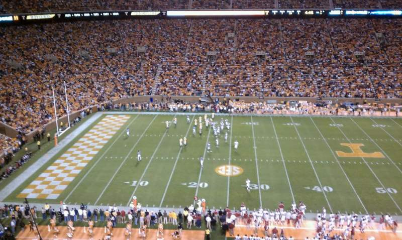 Seating view for Neyland Stadium Section FF