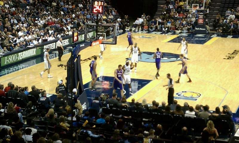 Seating view for FedEx Forum Section IP suite