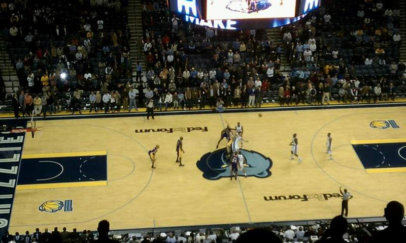 Seating view for FedEx Forum Section 208