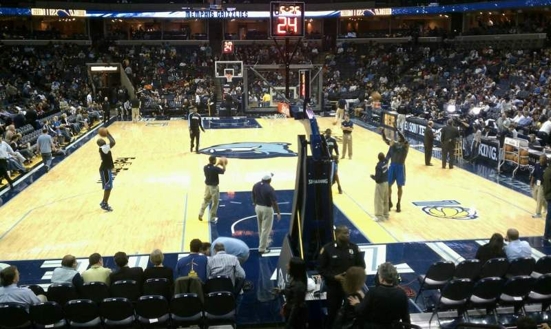 Seating view for FedEx Forum Section 118 Row H