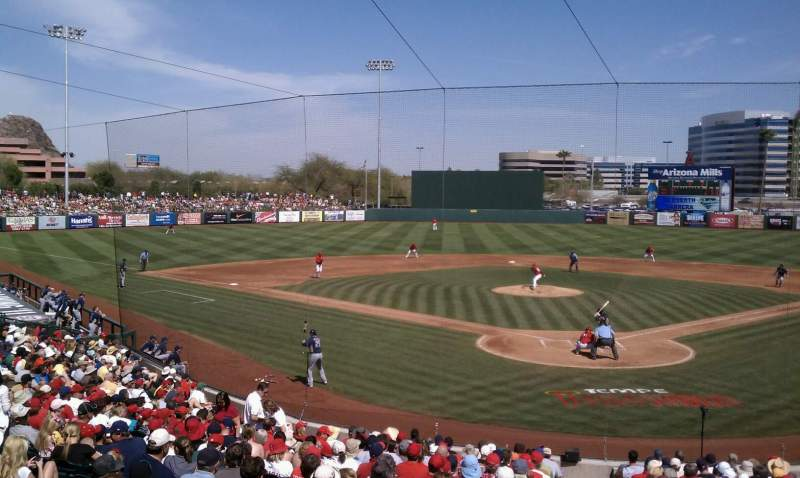Seating view for Tempe Diablo Stadium Section 9