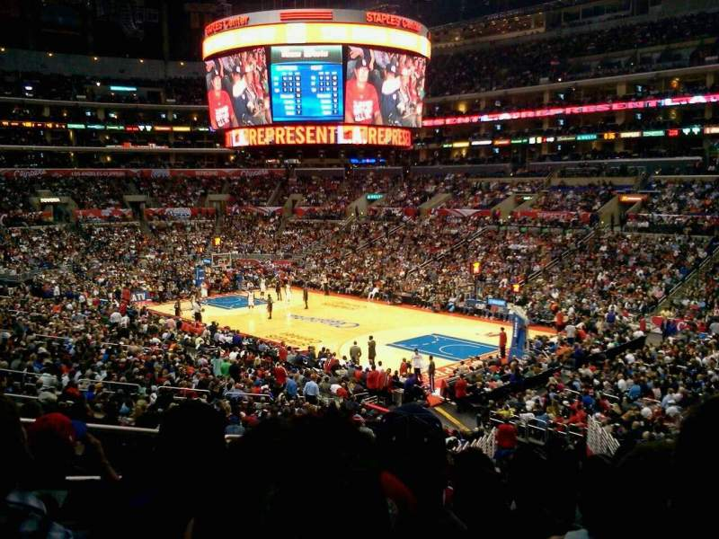 Seating view for Staples Center Section Pr1 Row 9 Seat 9