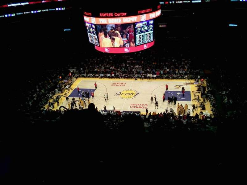 Seating view for Staples Center Section 334 Row 9 Seat 15