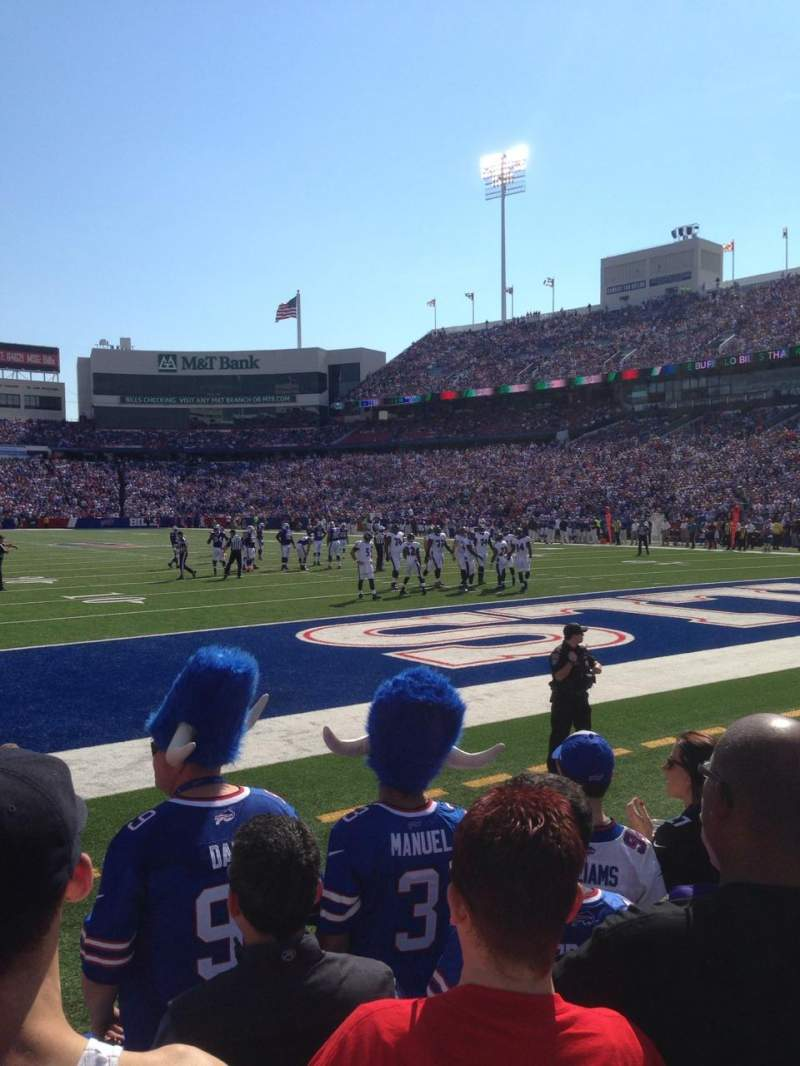Seating view for New Era Field Section 103 Row 5 Seat 7