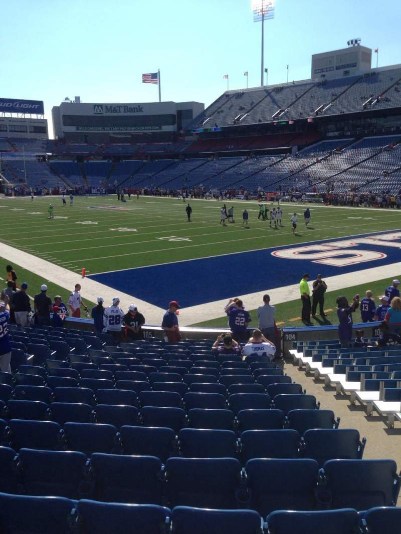 Seating view for New Era Field Section 105 Row 17 Seat 16