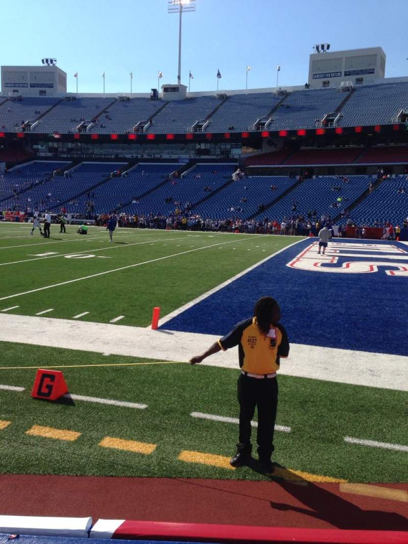 Seating view for New Era Field Section 106 Row 4 Seat 13