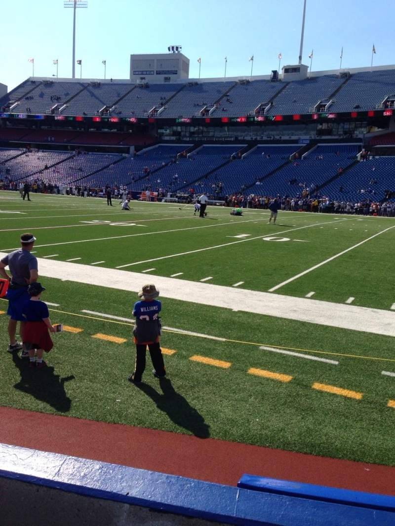 Seating view for New Era Field Section 107 Row 2 Seat 12