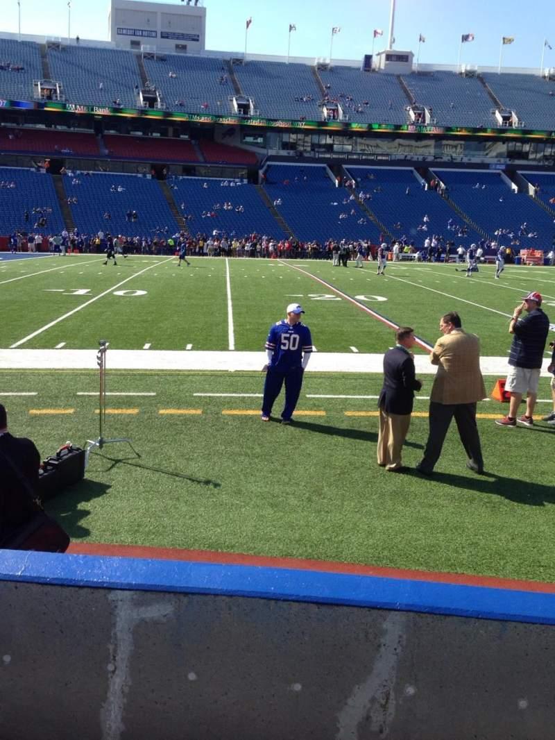 New Era Field, section: 115, row: 4, seat: 5