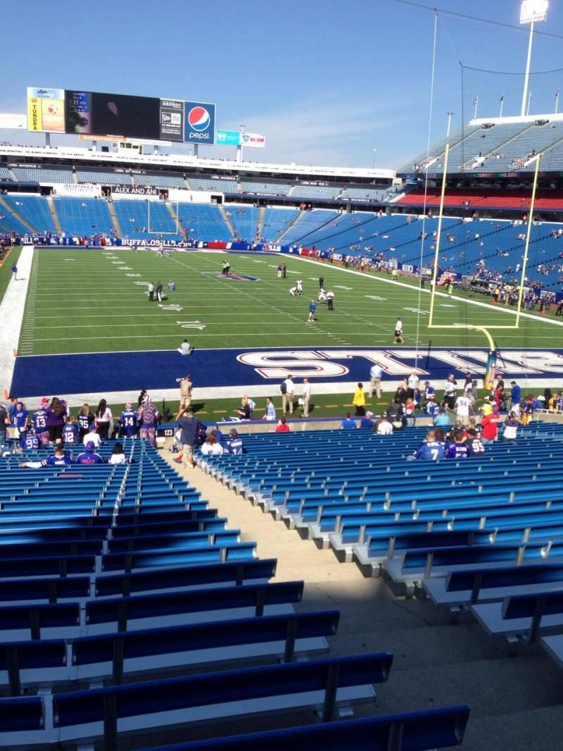 New Era Field, section: 123, row: 31, seat: 3