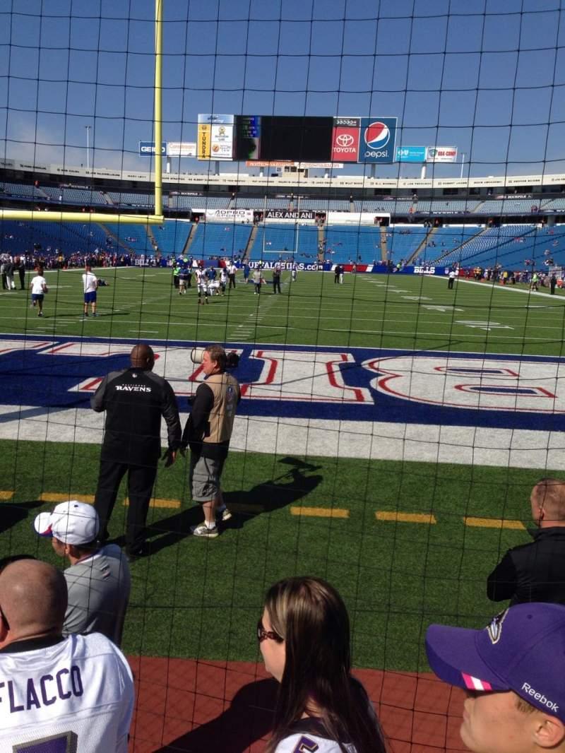 New Era Field, section: 120, row: 3, seat: 2