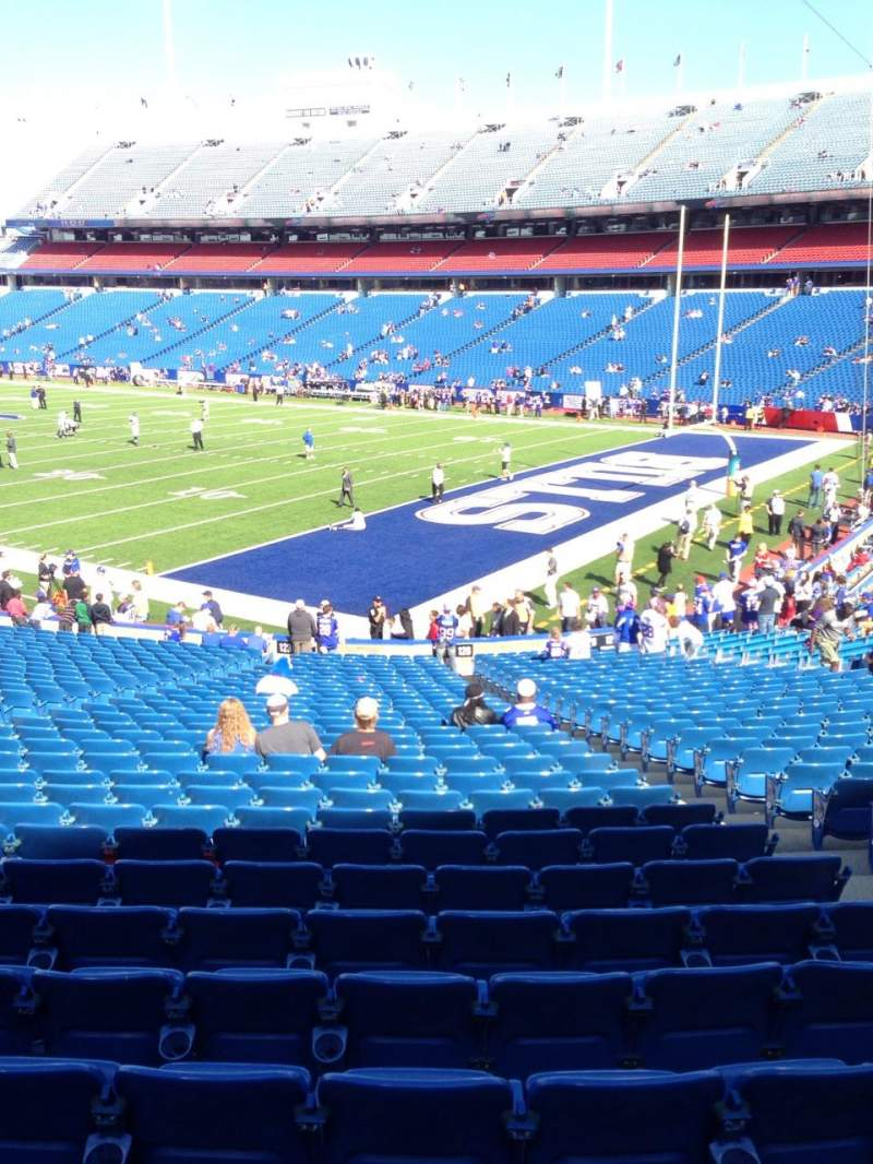Seating view for New Era Field Section 125 Row 31 Seat 5