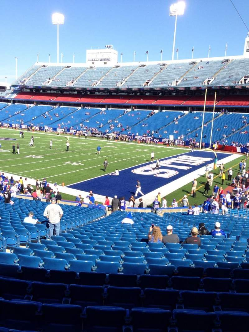 Seating view for New Era Field Section 125 Row 31 Seat 16