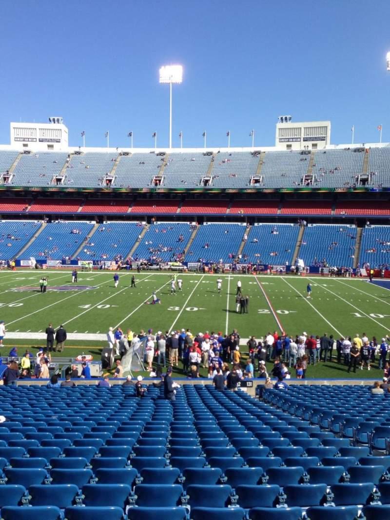 New Era Field, section: 133, row: 31, seat: 15