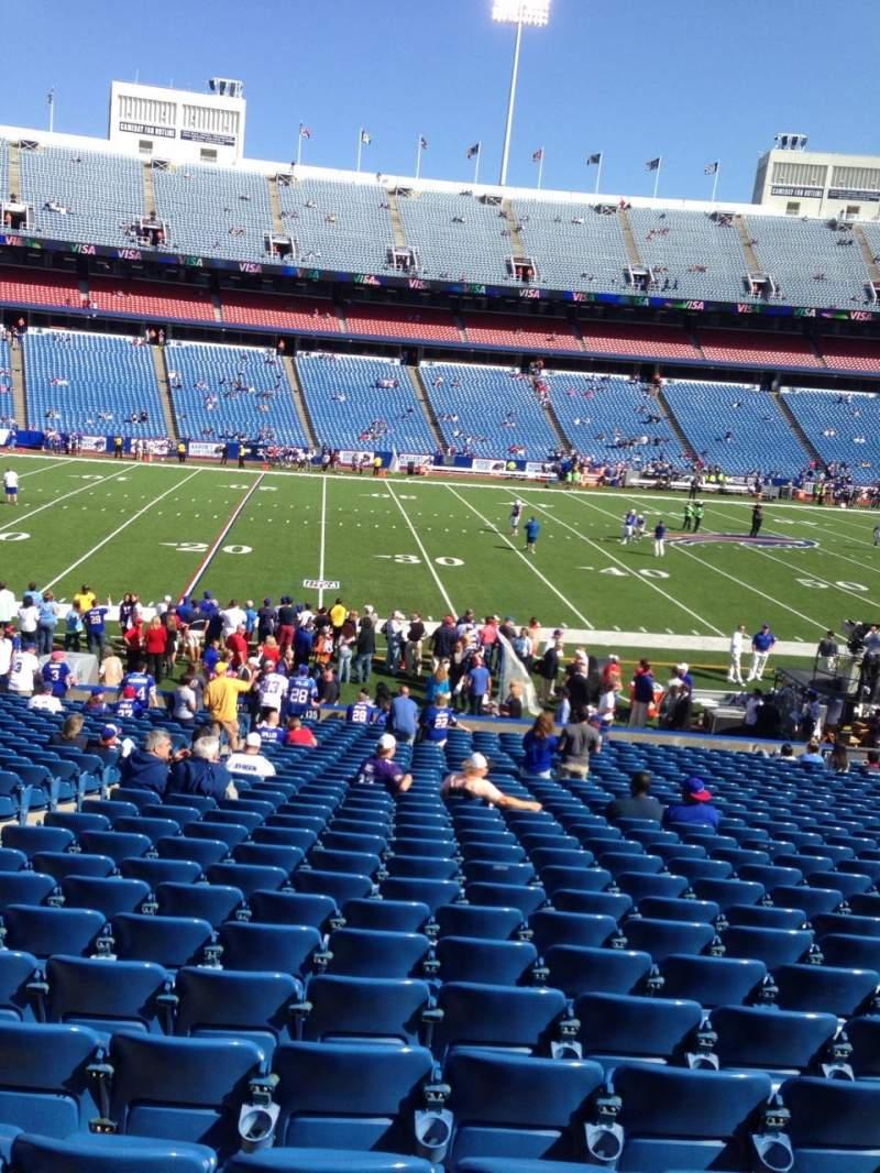 New Era Field, section: 136, row: 31, seat: 18