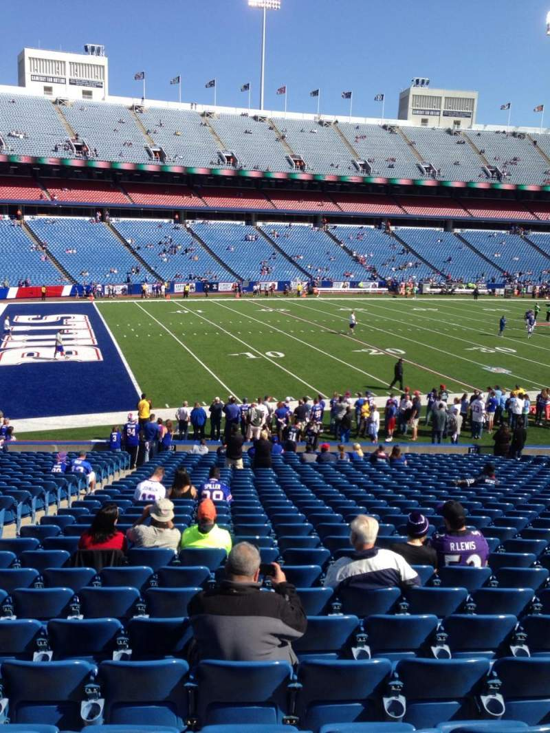 Seating view for New Era Field Section 138 Row 25 Seat 15