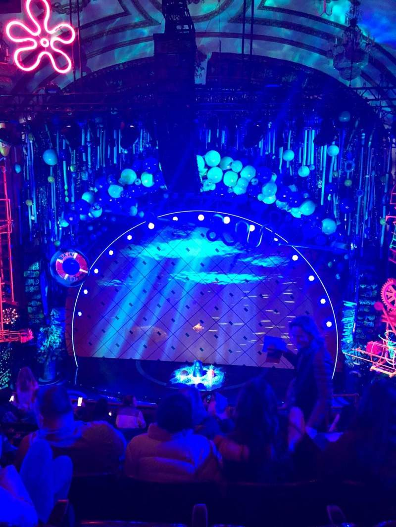 Seating view for Palace Theatre (Broadway) Section Mezz Row H Seat 110