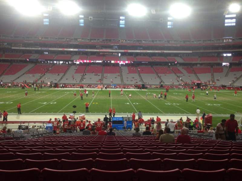 Seating view for University Of Phoenix Stadium Section 129 Row 24 Seat 11