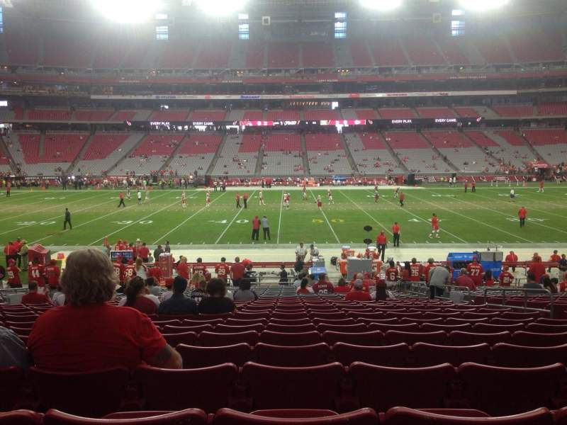 Seating view for University of Phoenix Stadium Section 130 Row 24 Seat 7