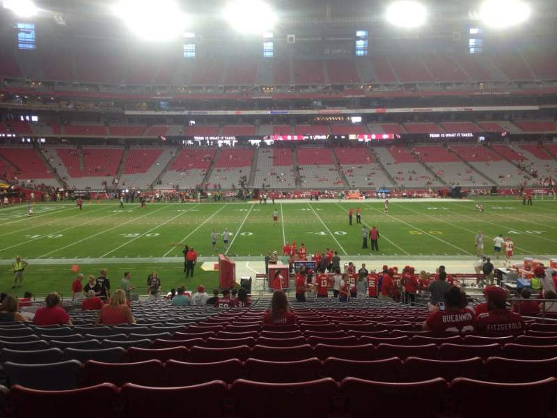 Seating view for University of Phoenix Stadium Section 130 Row 24 Seat 8