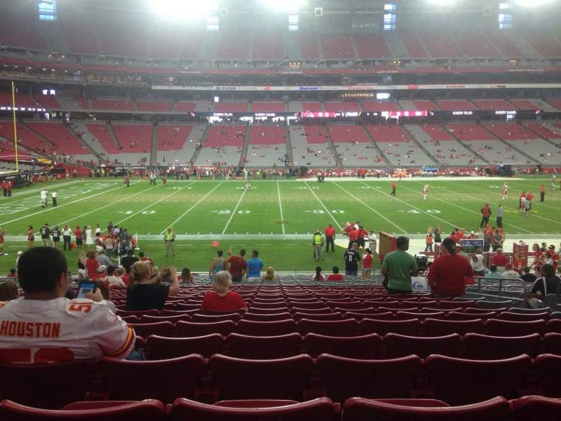 Seating view for University Of Phoenix Stadium Section 131 Row 24 Seat 7