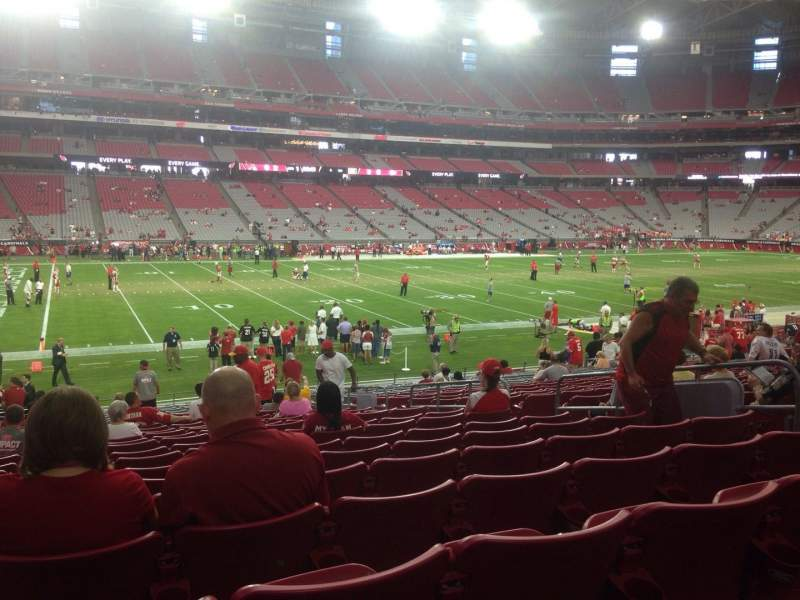 Seating view for University of Phoenix Stadium Section 133 Row 23 Seat 8
