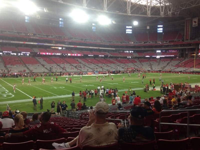 Seating view for University of Phoenix Stadium Section 134 Row 21 Seat 8