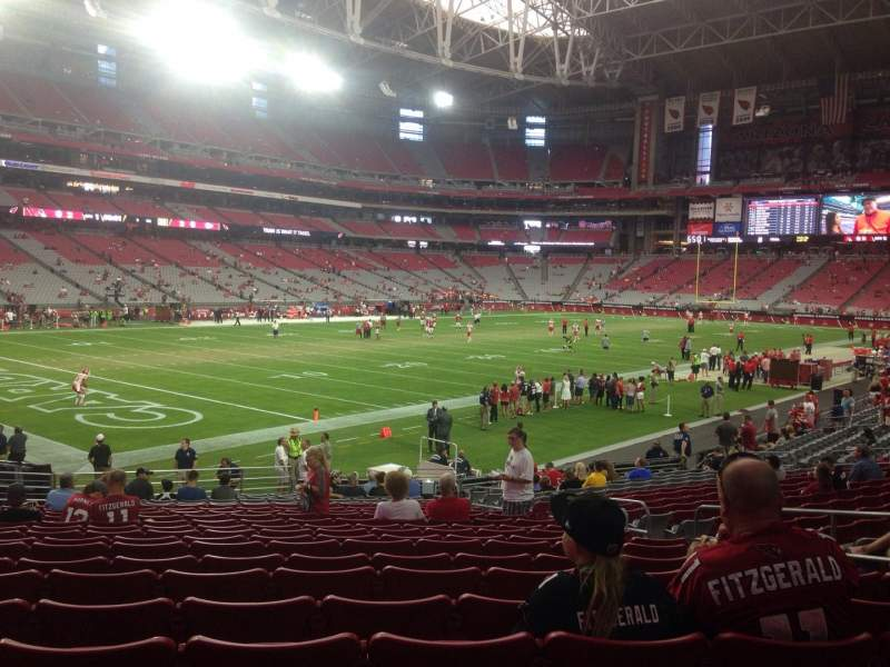 Seating view for University of Phoenix Stadium Section 136 Row 21 Seat 8