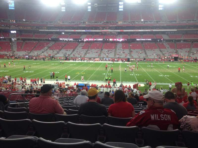 Seating view for University of Phoenix Stadium Section 128 Row 37 Seat 13
