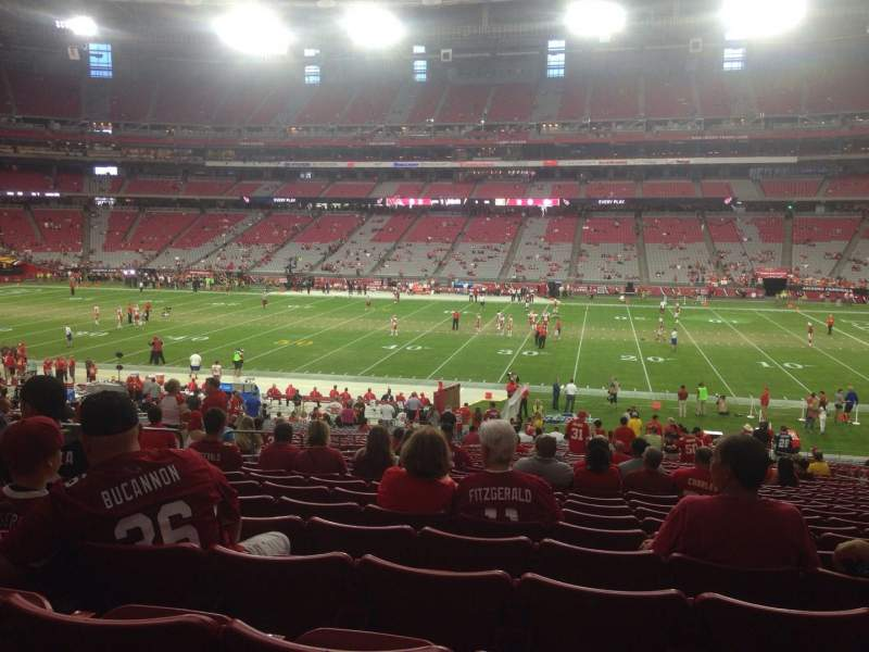 Seating view for University of Phoenix Stadium Section 127 Row 37 Seat 11