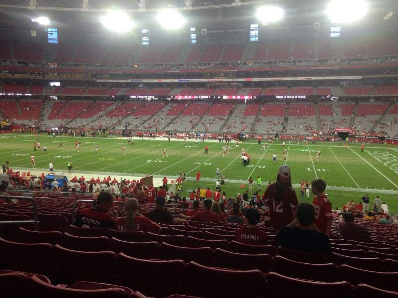 Seating view for University of Phoenix Stadium Section 126 Row 37 Seat 13