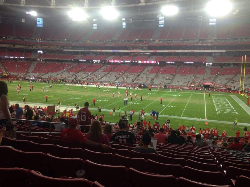 Seating view for University of Phoenix Stadium Section 125 Row 36 Seat 37