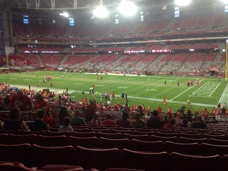 Seating view for University of Phoenix Stadium Section 124 Row 36 Seat 11