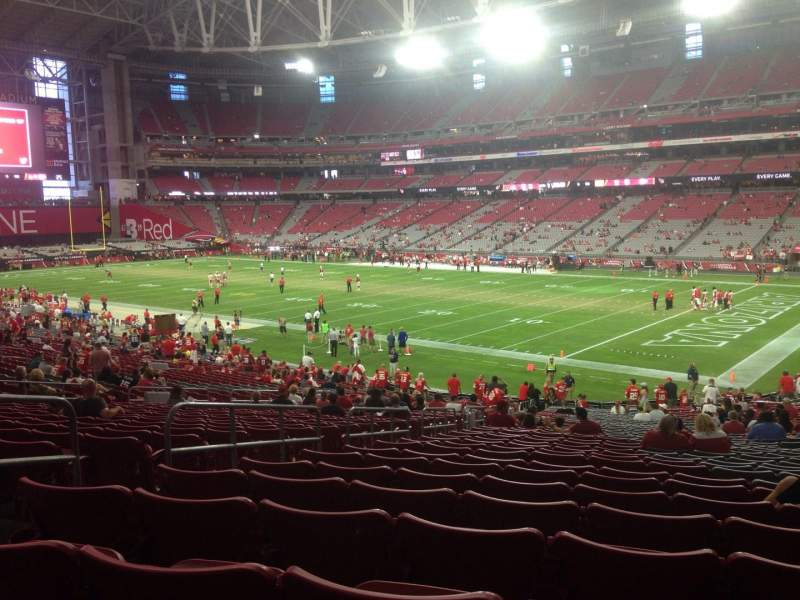 Seating view for University of Phoenix Stadium Section 123 Row 36 Seat 29