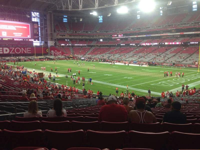 Seating view for University of Phoenix Stadium Section 122 Row 36 Seat 11