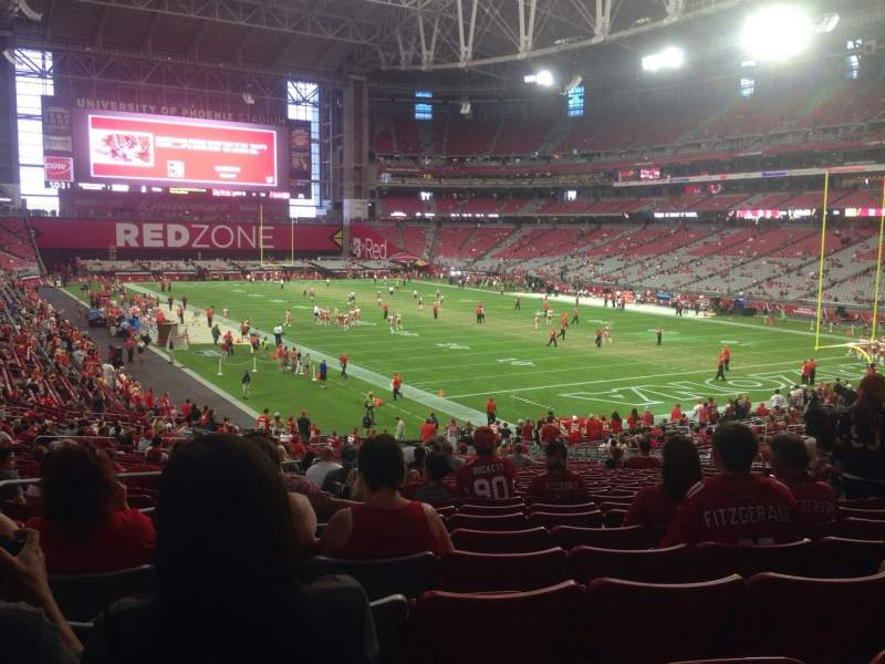 Seating view for University of Phoenix Stadium Section 120 Row 37 Seat 13