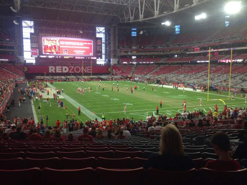 Seating view for University of Phoenix Stadium Section 119 Row 36 Seat 22