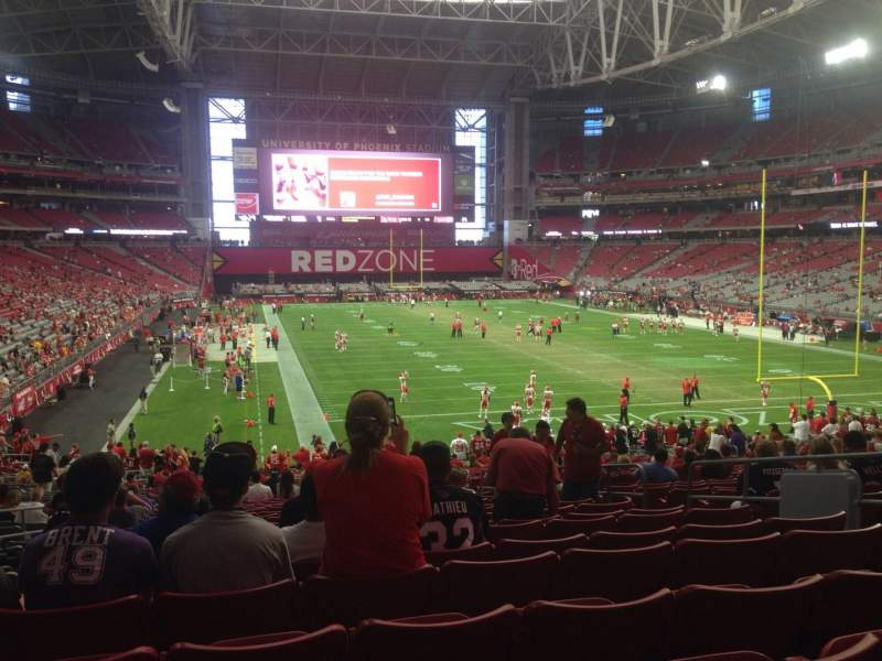 Seating view for University of Phoenix Stadium Section 118 Row 36 Seat 7