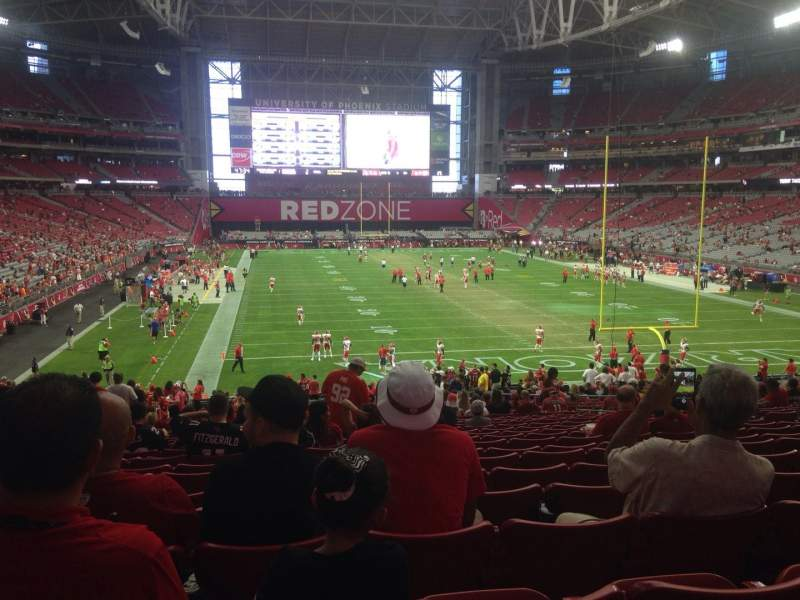 Seating view for University of Phoenix Stadium Section 117 Row 38 Seat 13
