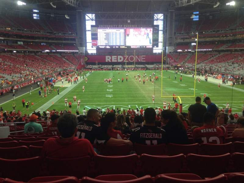 Seating view for University of Phoenix Stadium Section 116 Row 38 Seat 13